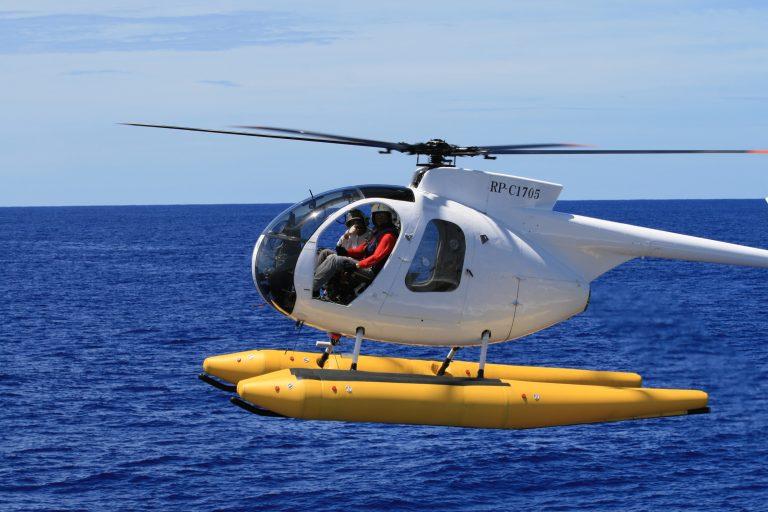 漁の様子ヘリで探索
