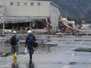 東日本大震災現地に向かう福一従業員
